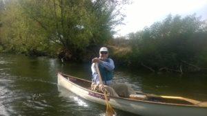 Chel in canoe
